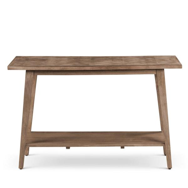 Milani 47 in. Natural Standard Rectangle Wood Console Table with Storage