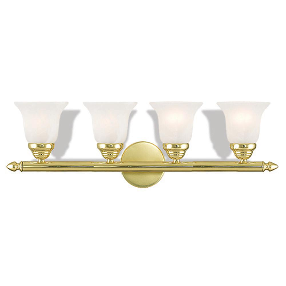 Neptune 4-Light Polished Brass Bath Light