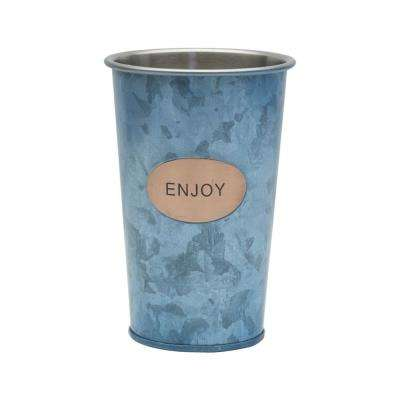 20 oz. Double Wall Galvanized Enjoy Tumbler