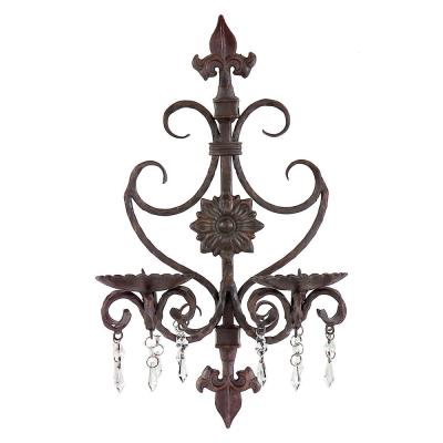 Brown Candle Sconce