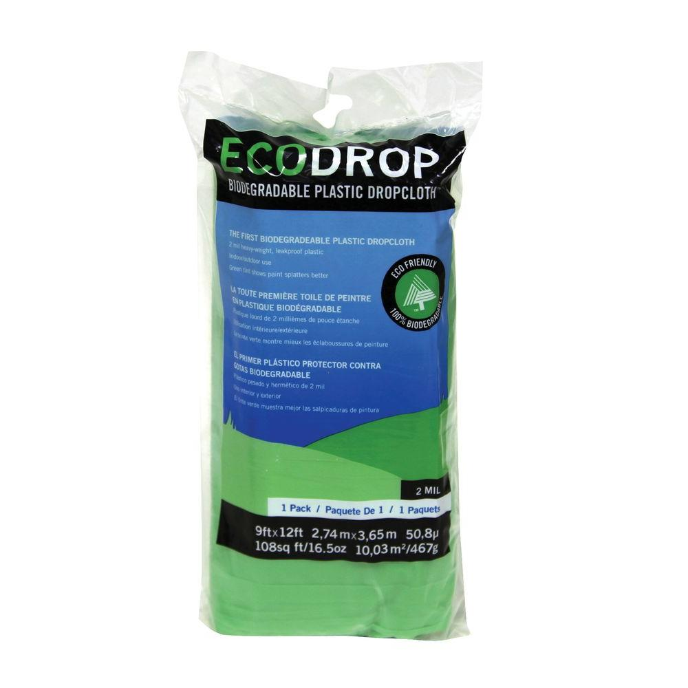 Trimaco 9 ft. x 12 ft. Eco Plastic Drop Cloth