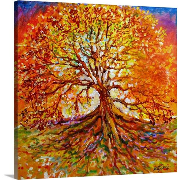 Greatbigcanvas 16 In X 16 In Quot Tree Of Life Autumn Sunset