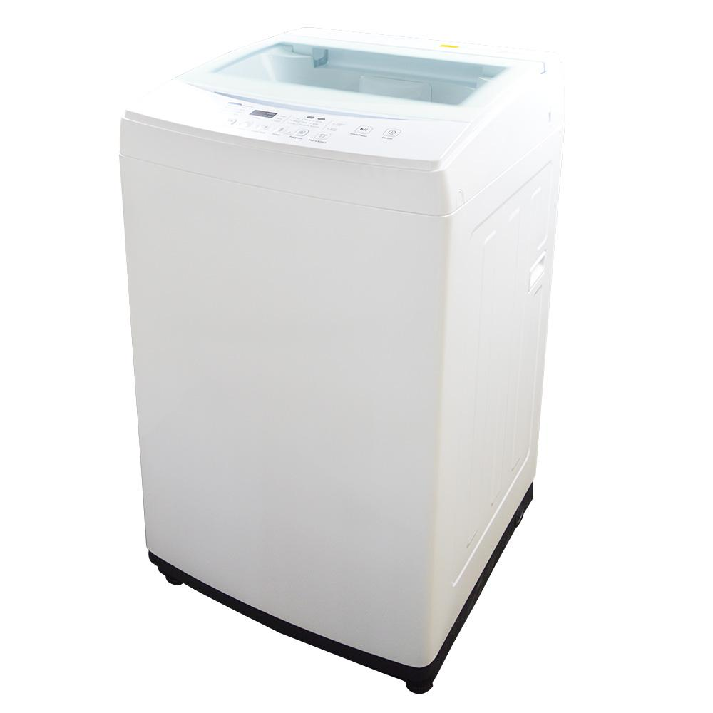 Panda 1.60 cu. ft. White Compact Top Load Washer with Stainless ...
