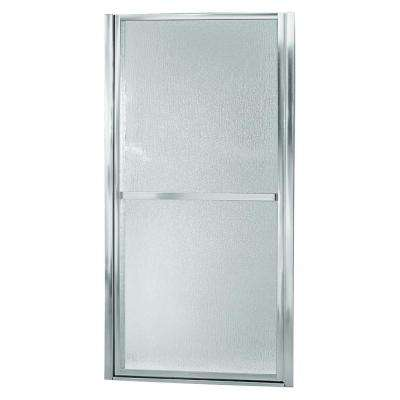 Sterling Finesse 39 1 2 In X 65 1 2 In Framed Pivot Shower Door In Silver With Handle 6506 39s The Home Depot