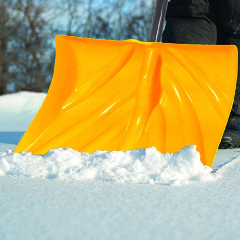 18 in. Ergonomic Mountain Mover Snow Shovel