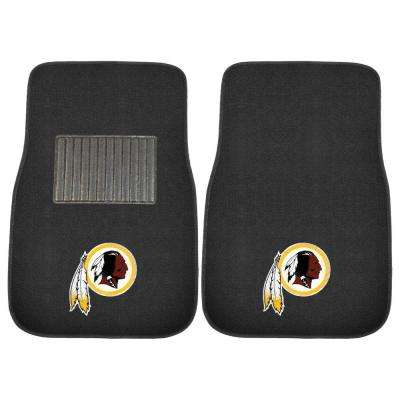 NFL Washington Redskins 2-Piece 17 in. x 25.5 in. Carpet Embroidered Car Mat