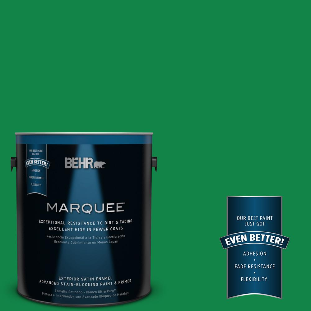 BEHR MARQUEE 1-gal. #460B-6 Chlorophyll Satin Enamel Exterior Paint
