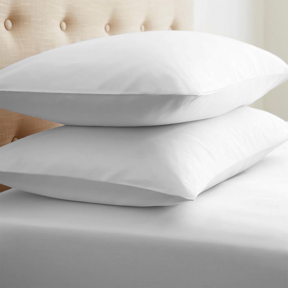 Performance White Standard 2-Piece Pillow Case Set