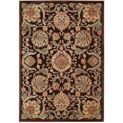 Graphic Illusions Chocolate 8 ft. x 11 ft. Area Rug