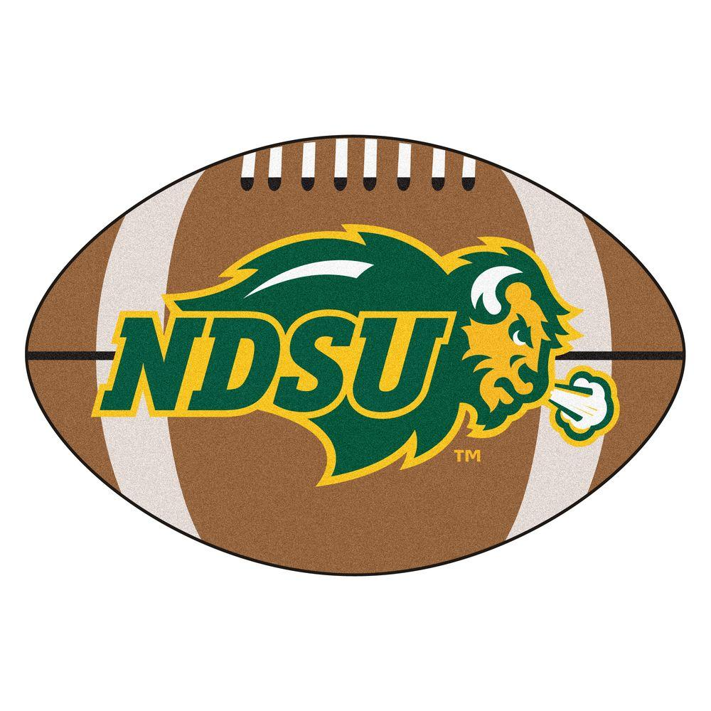 FANMATS NCAA North Dakota State University Brown 2 ft. x 3 ft. Specialty Area Rug