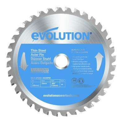 7 in. 68-Teeth Thin Steel Cutting Saw Blade