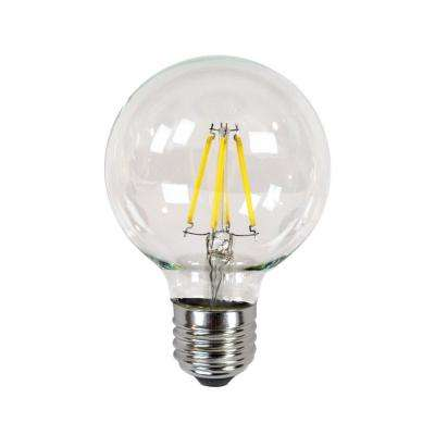 40W Equivalent Incandescent G25 Dimmable LED Filament Light Bulb