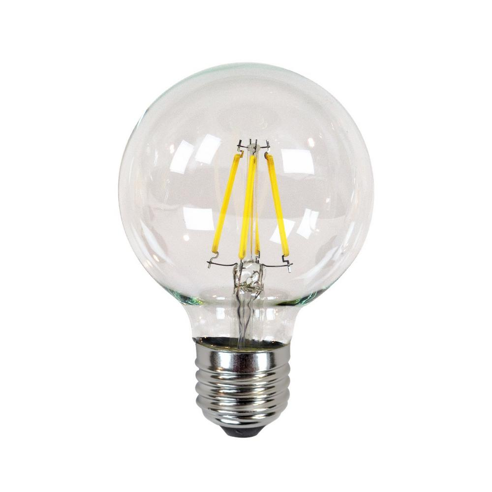 Newhouse Lighting 40w Equivalent Incandescent G25 Dimmable Led Filament Light Bulb Ledebd Gl