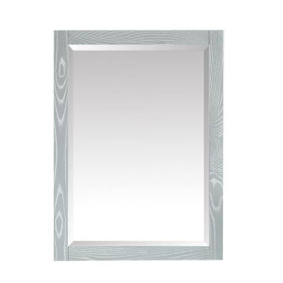 Riley 24 in. W x 32 in. H Wall Mounted Bathroom Mirror in Sea Salt Gray