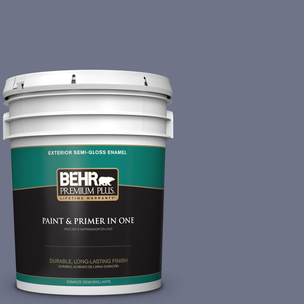 5 gal. #PPU16-17 Blue Aura Semi-Gloss Enamel Exterior Paint