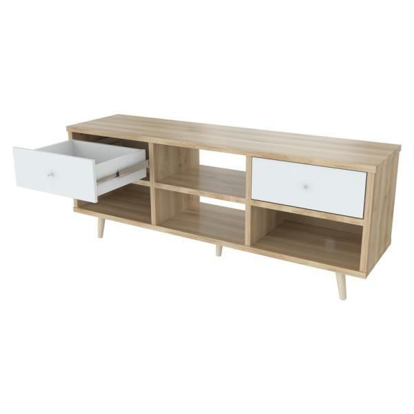 Inval Maple and Polar White TV Stand MTV-14419