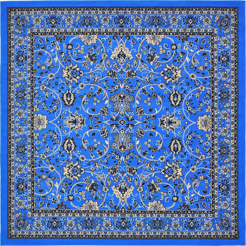Red And Turquoise Rug Area Sophisticated Awesome Rugs In: Unique Loom Kashan Dark Blue 8 Ft. X 8 Ft. Square Area Rug
