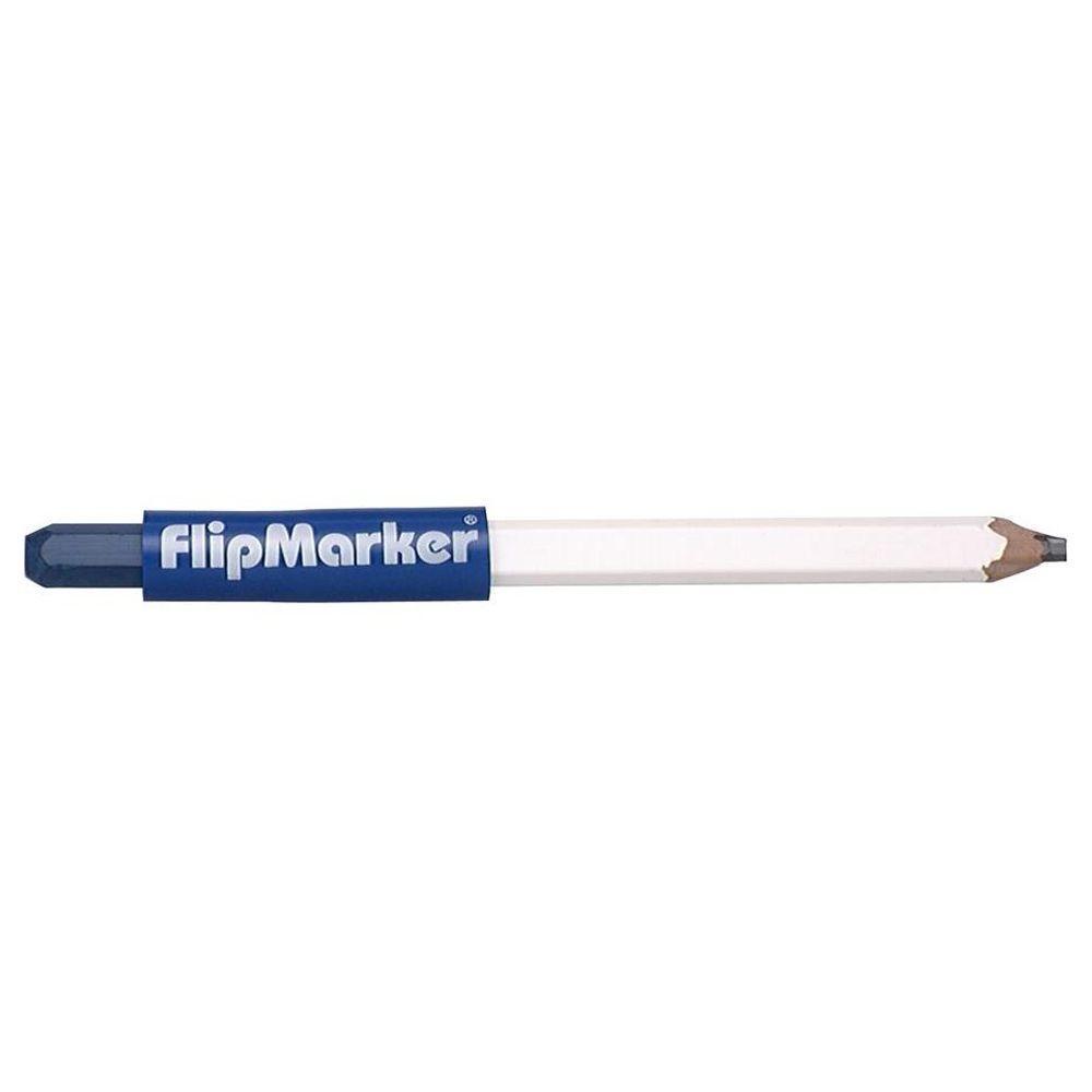Vaughan Flip Marker Carpenter Pencil and Blue Lumber Crayon