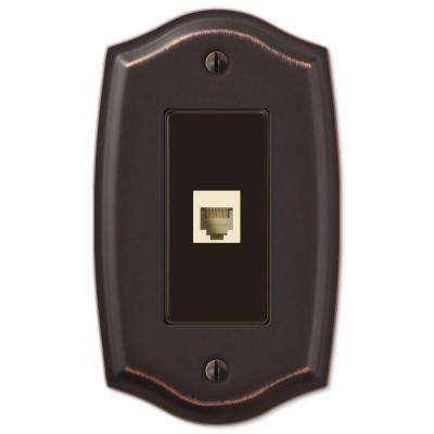 Sonoma 1 Phone Wall Plate - Aged Bronze