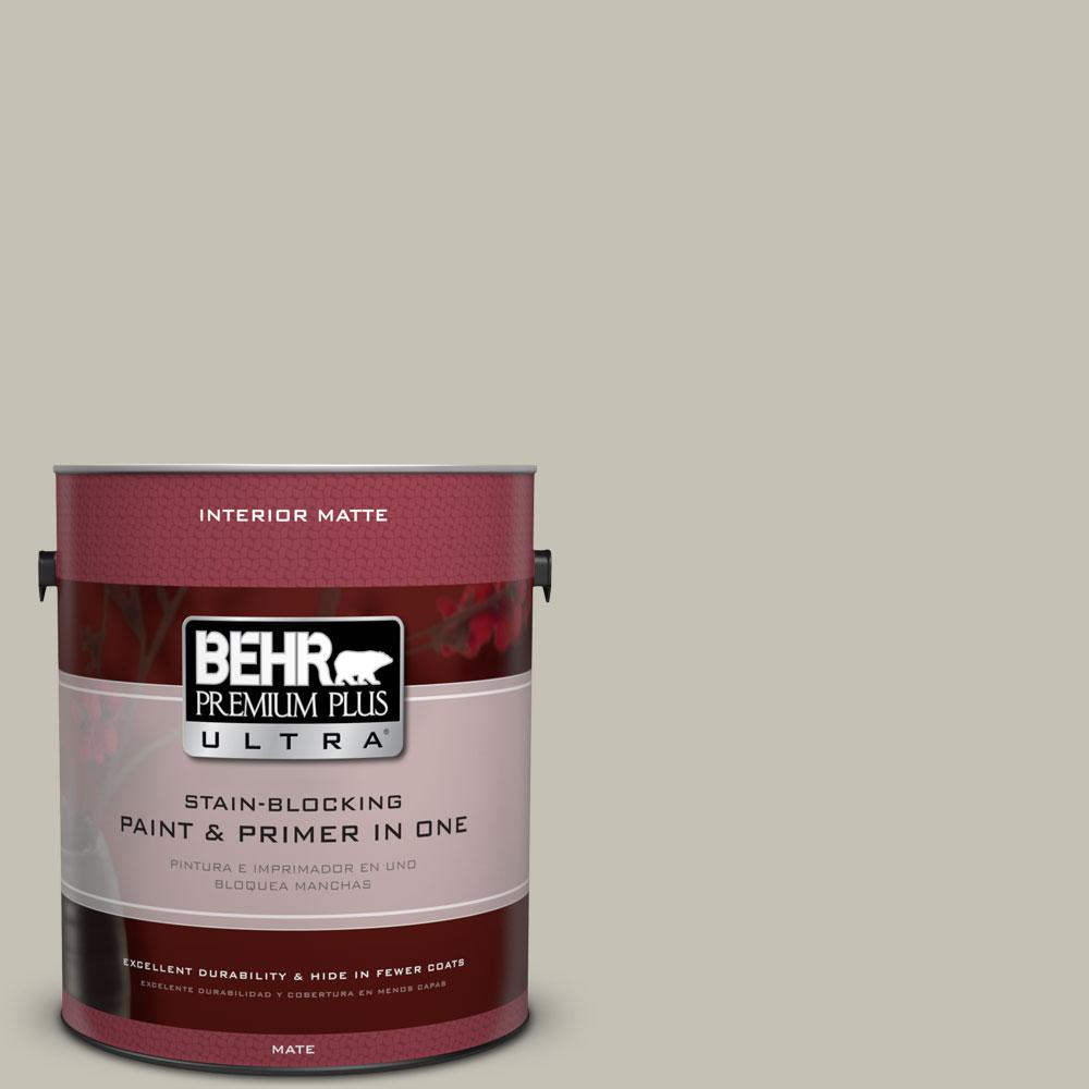 BEHR Premium Plus Ultra 1 gal. #BNC-04 Comforting Gray Matte Interior Paint