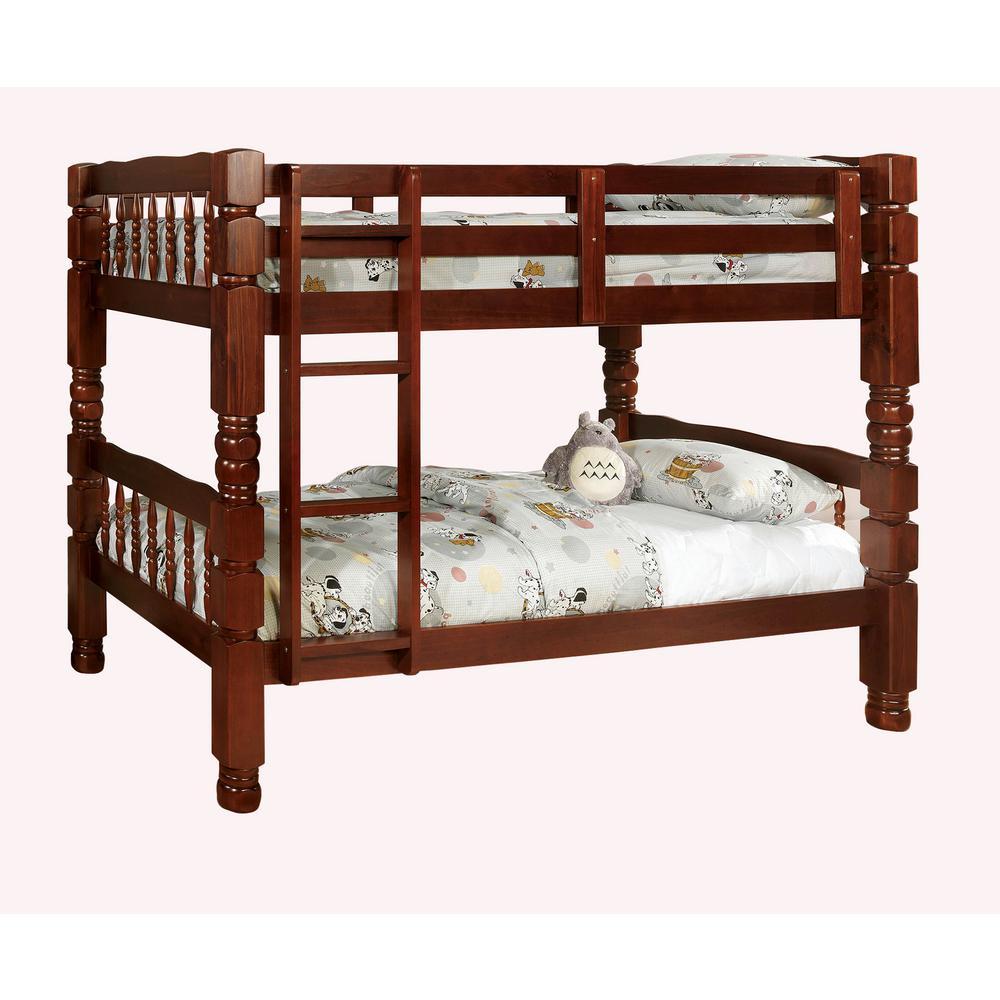 Carolina Twin Bunk Bed in Cherry finish