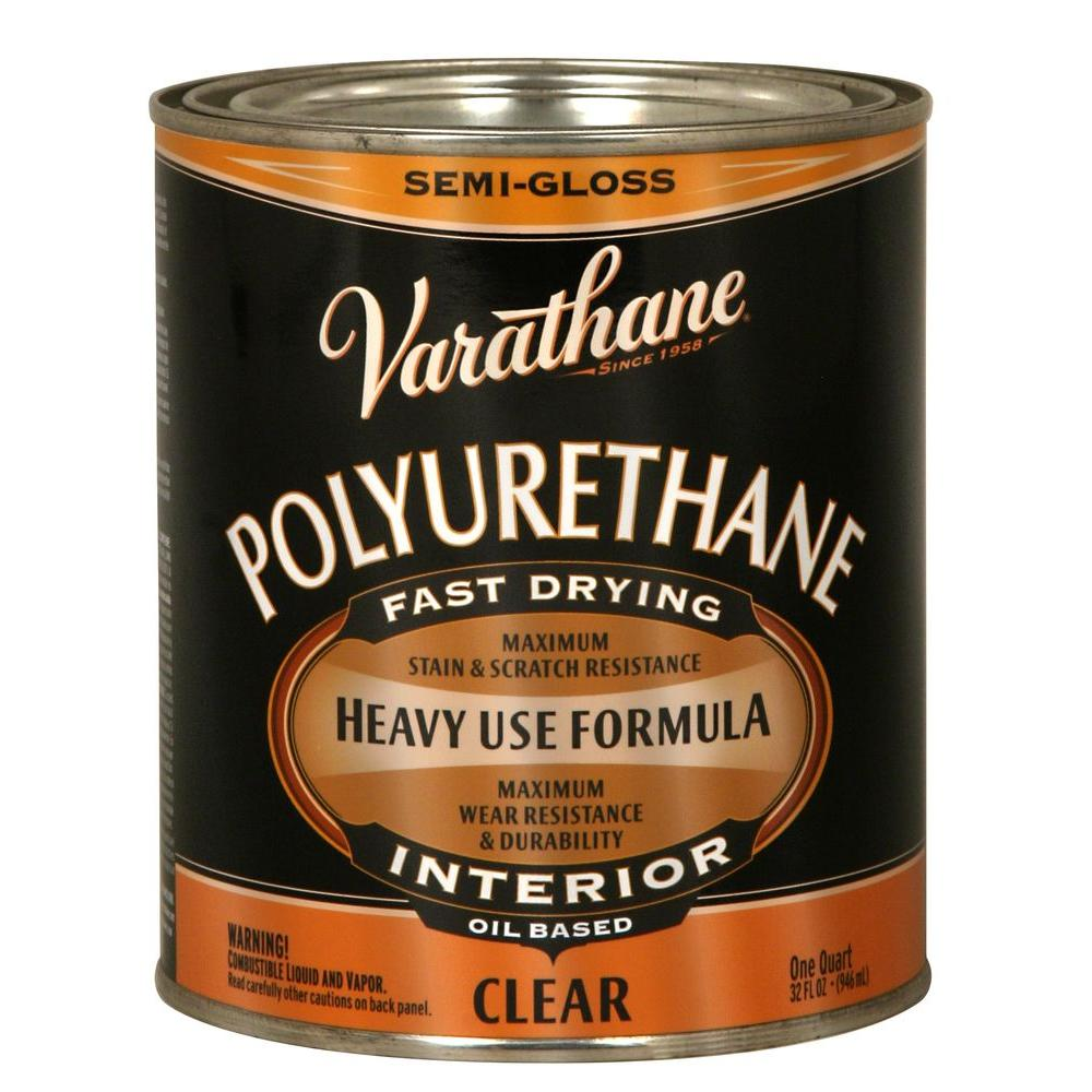 1 qt. Clear Semi-Gloss Oil-Based Interior Polyurethane (Case of 2)