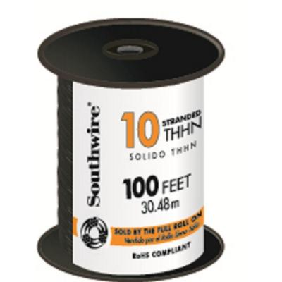 100 ft. 10 Black Stranded CU THHN Wire
