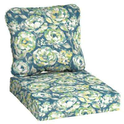 Charleston Floral 2-Piece Deep Seating Outdoor Lounge Chair Cushion