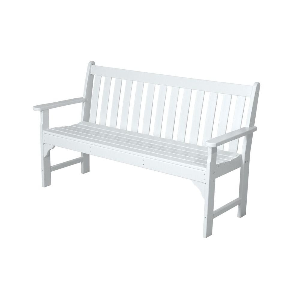 White Outdoor Bench