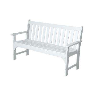 Vineyard 60 in. White Patio Bench