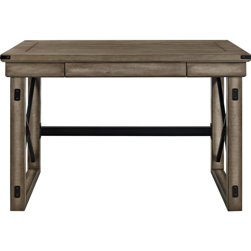 Forest Grove Rustic Gray Computer Desk with Storage