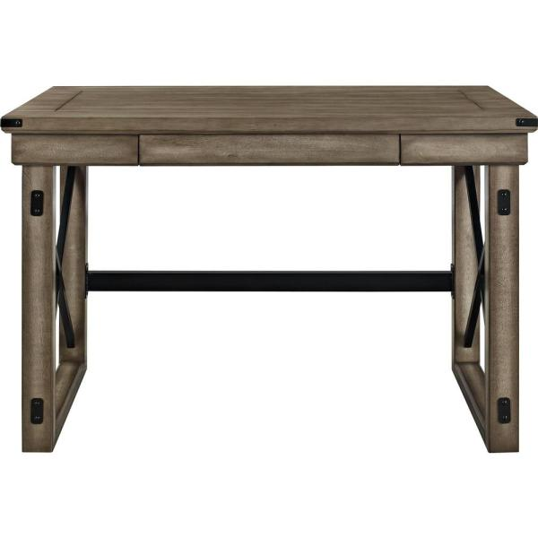 Ameriwood Home Forest Grove Rustic Gray Computer Desk with Storage HD77292