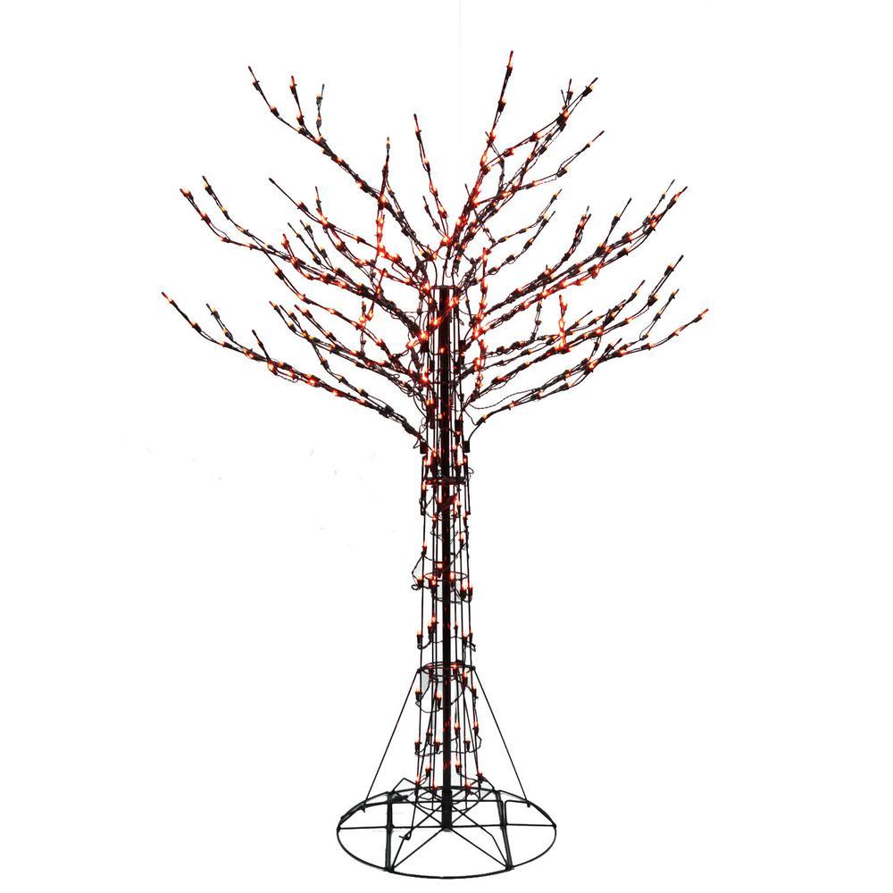 6 ft. Orange LED Twig Tree