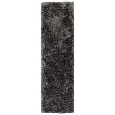 It's So Fabulous Charcoal 2 ft. x 8 ft. Runner Rug