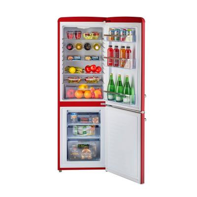 Retro 21.6 in. 7 cu. ft. Bottom Freezer Refrigerator in Candy Red, ENERGY STAR