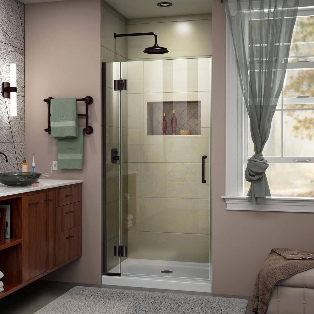 Dreamline Unidoor X 32 In X 72 In Frameless Hinged Shower Door In