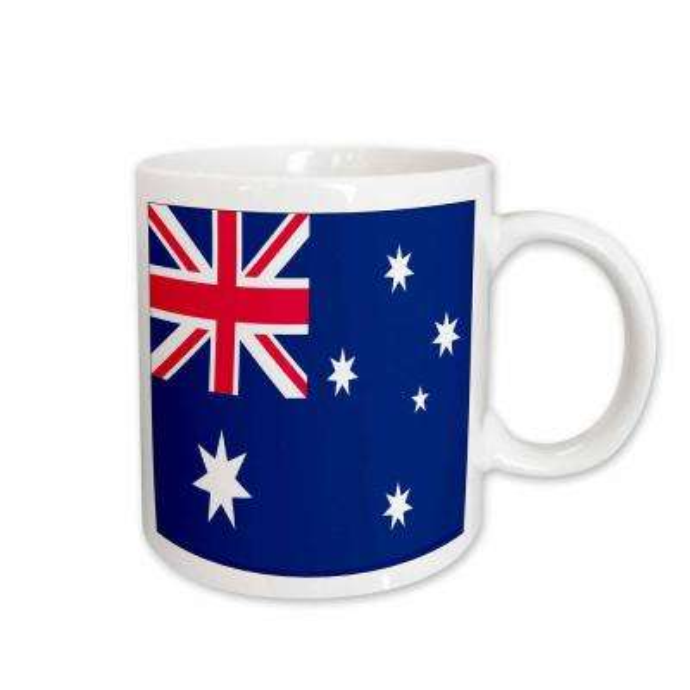 Flags 11 oz. White Ceramic Australian Flag Mug
