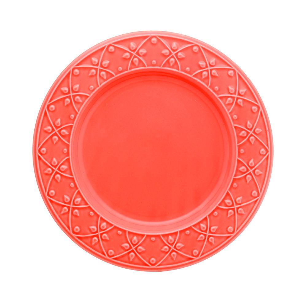 10.43 in. Mendi Coral Dinner Plates (Set of 6)