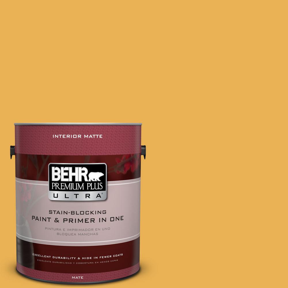 1 gal. #PMD-20 Goldenrod Field Flat/Matte Interior Paint