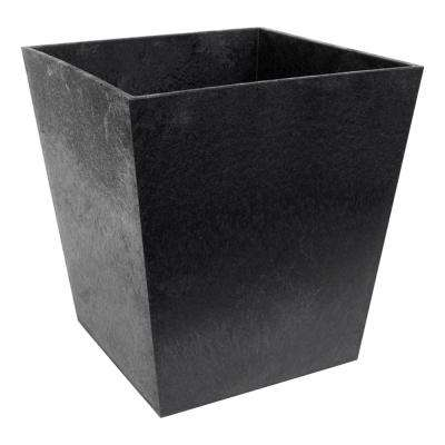 Sonata 11.75 in. x 13 in. Slate Rubber Self-Watering Planter