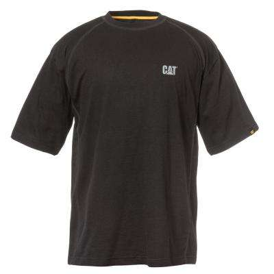 Performance Men's 2X-Large Black Cotton/Polyester Short Sleeved T-Shirt