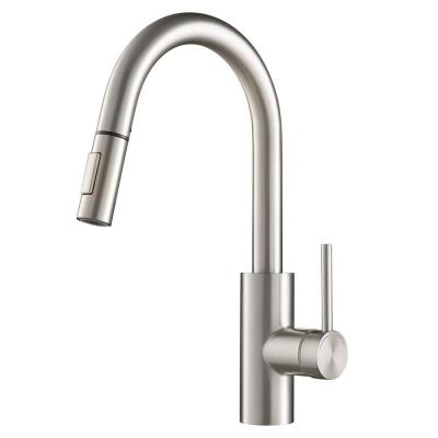 Oletto Single-Handle Pull-Down Sprayer Kitchen Faucet with Dual-Function Sprayer in Spot-Free Stainless Steel