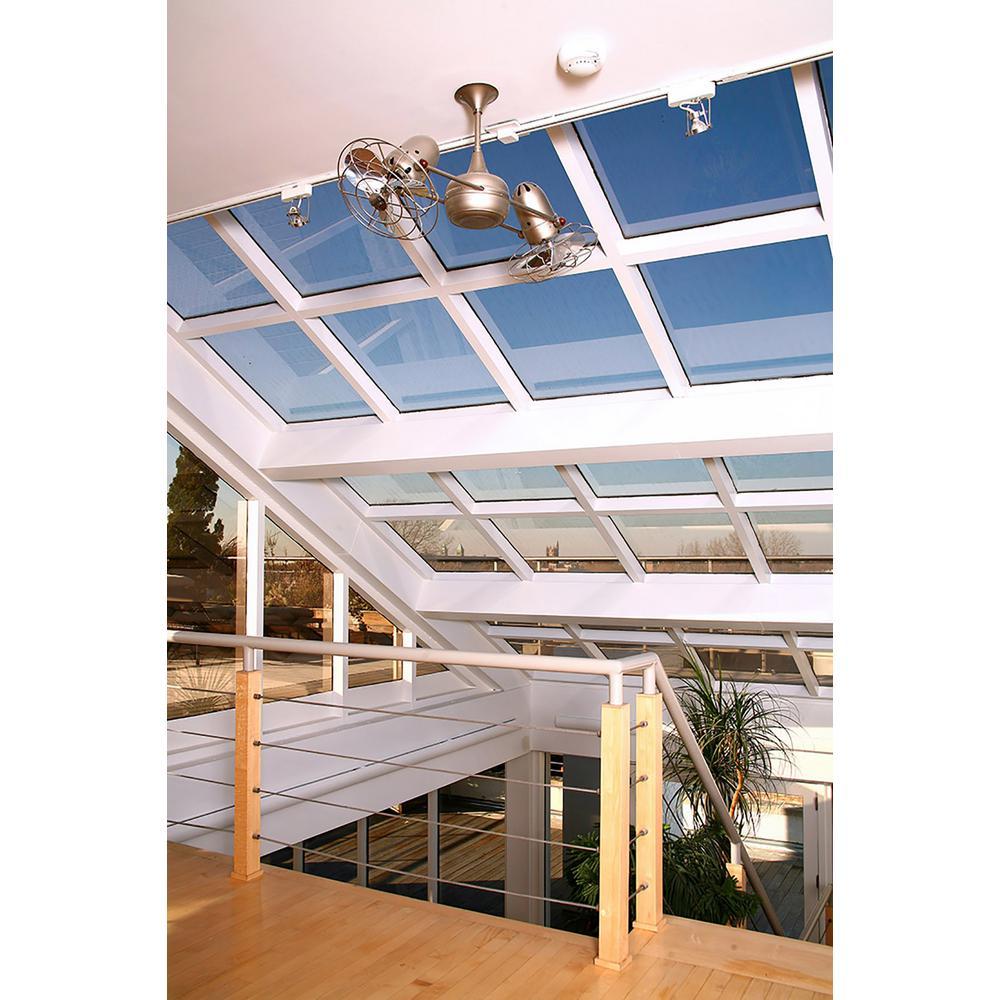 Duplo-Dinamico 36 in. Indoor/Outdoor Orange Ceiling Fan with Wall Control
