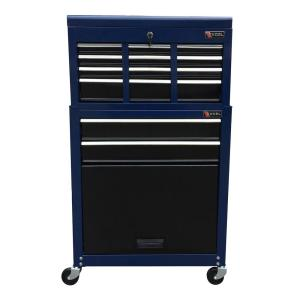 Click here to buy Excel TB220X-AB 24 inch 8 Drawer Tool Chest and Cabinet Combo in Blue by Excel.