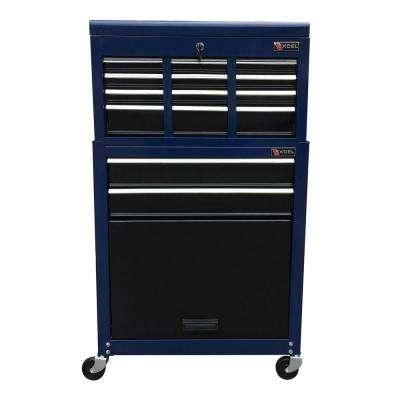 TB220X-AB 24 in. 8 Drawer Tool Chest and Cabinet Combo in Blue