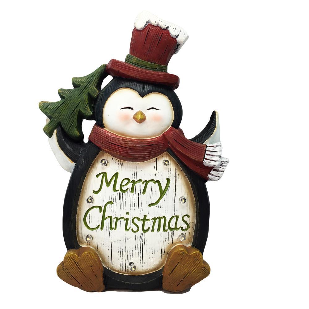 penguin with led lights tm