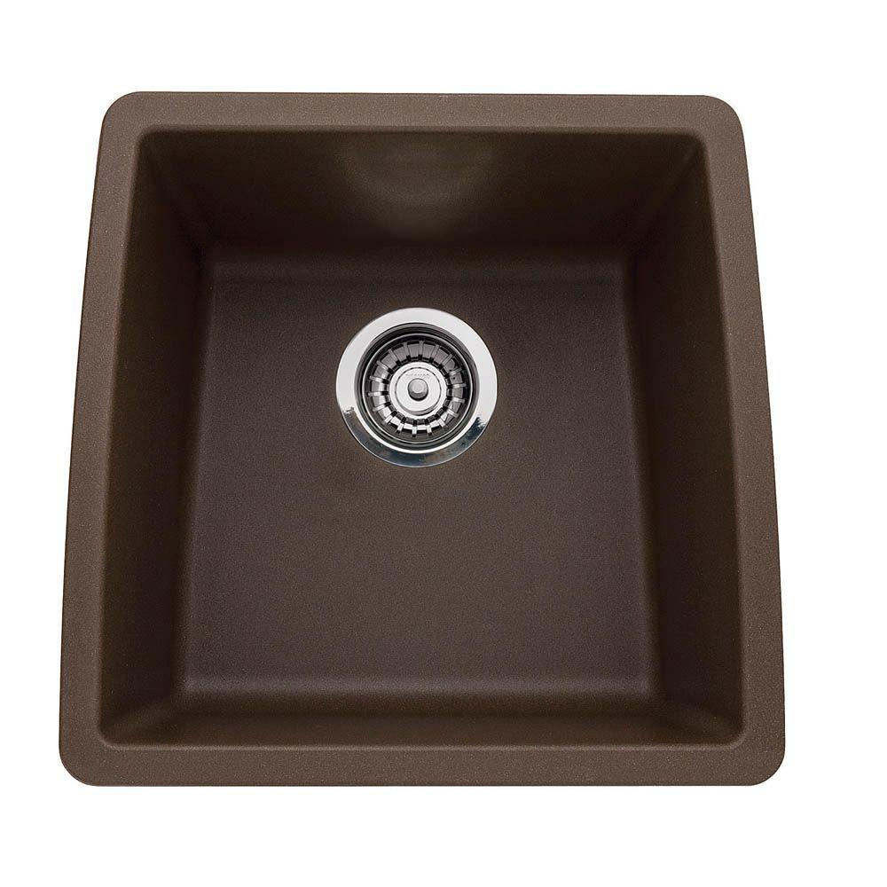 brown composite kitchen sink blanco performa undermount granite composite 17 5 in 0 4936