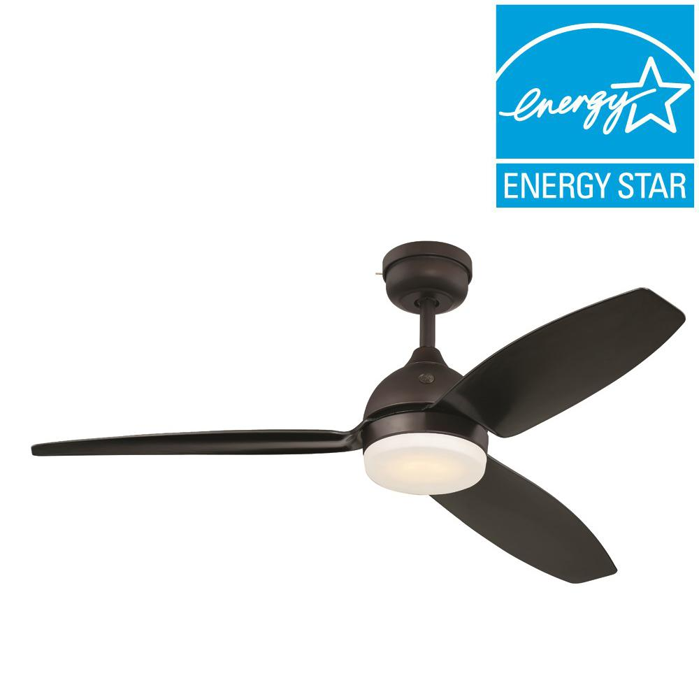 Morgan 54 in. LED Indoor/Outdoor Bronze Ceiling Fan with SkyPlug Technology