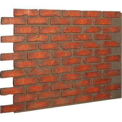 7/8 in. x 46-5/8 in. x 33-3/4 in. Smoked Brick Urethane Old Chicago Brick Wall Panel