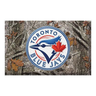 MLB - Toronto Blue Jays 19 in. x 30 in. Outdoor Camo Scraper Mat Door Mat